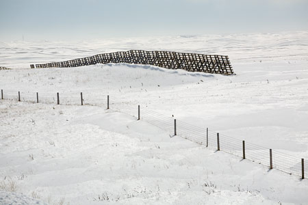 Wind Barriers, I 25, SD. ©David Gardner
