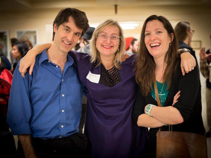 Meg Shiffler (Center), the Gallery Director for San Francisco Arts Commission put on a fine show.